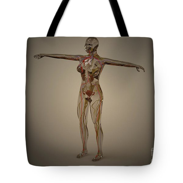 Conceptual Image Of Human Nervous Tote Bag by Stocktrek Images