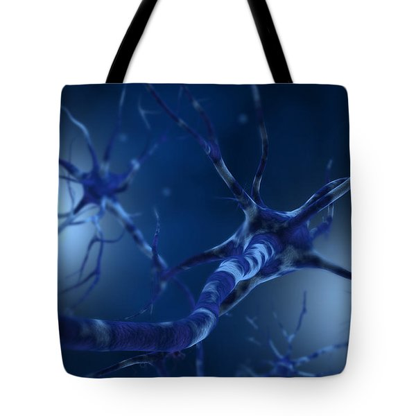 Conceptual Image Of Neuron Tote Bag