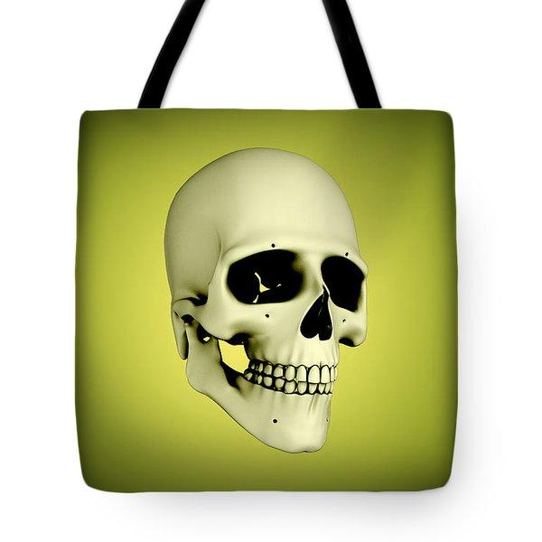 Conceptual View Of Human Skull Tote Bag by Stocktrek Images