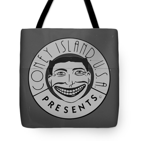 Coney Island Tillie In Black And White Tote Bag