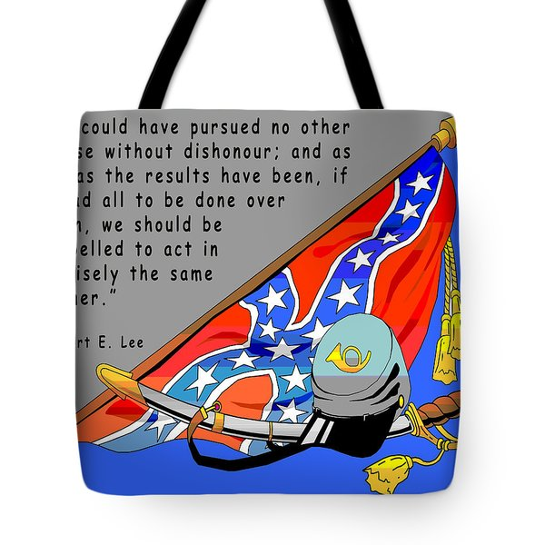 Confederate States Of America Robert E Lee Tote Bag by Digital Creation