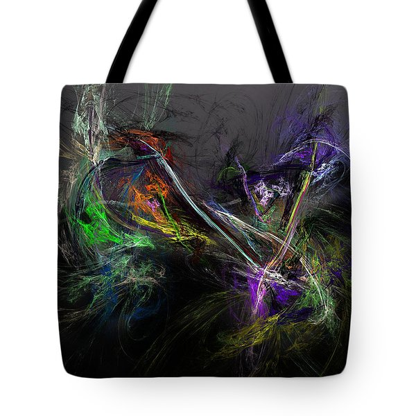 Tote Bag featuring the digital art Conflict by David Lane