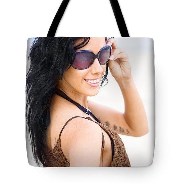 Cool Beach Babe Tote Bag