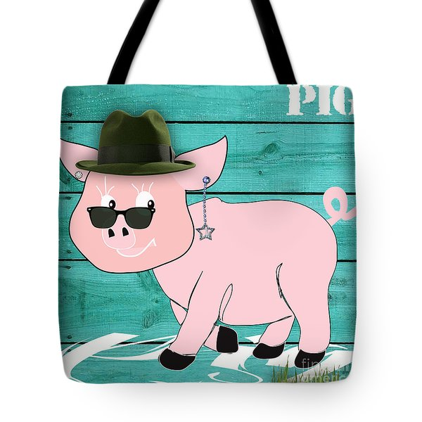 Cool Pig Collection Tote Bag by Marvin Blaine