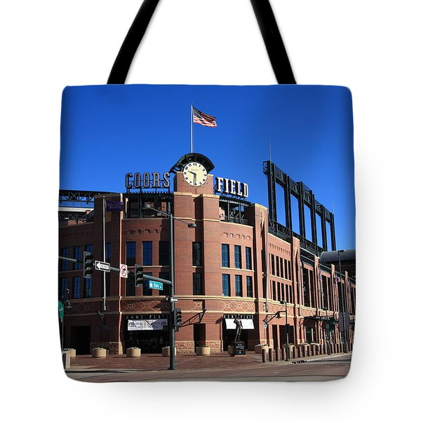 Coors Field - Colorado Rockies Tote Bag by Frank Romeo