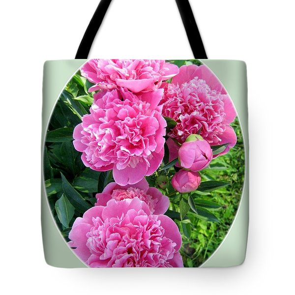 Country Peonies Tote Bag