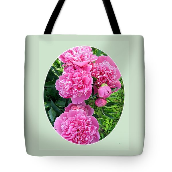 Country Peonies Tote Bag by Will Borden