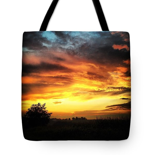 Country Scene From Hilltop To Hilltop Tote Bag