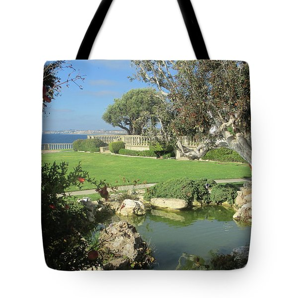Courtyard On The Cliffs Tote Bag