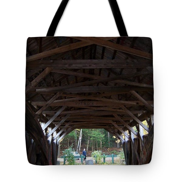 Covered Bridge Tote Bag by Catherine Gagne