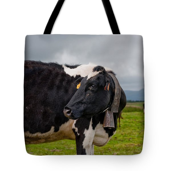 Cow Wearing Cowbell  Tote Bag