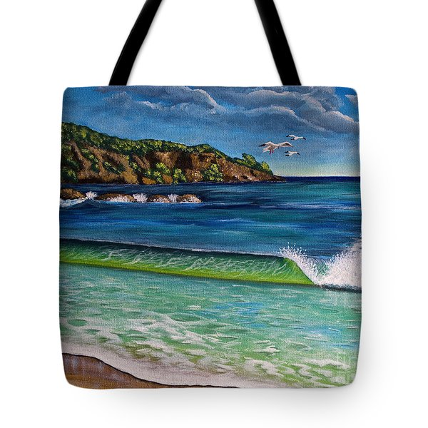 Crashing Wave Tote Bag by Laura Forde