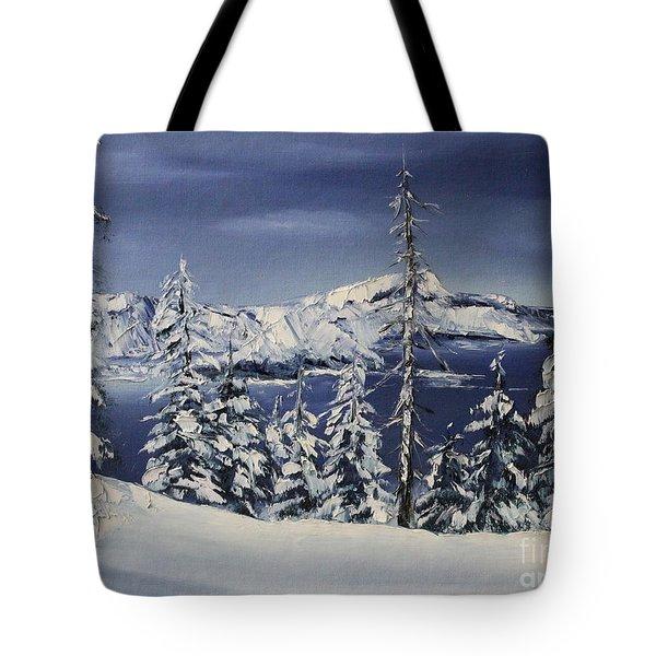 Crater Lake Tote Bag by D L Gerring