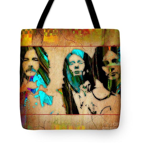 Cream Eric Clapton Jack Bruce Ginger Baker Tote Bag by Marvin Blaine