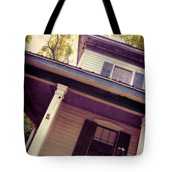 Creepy Old House Tote Bag by Jill Battaglia