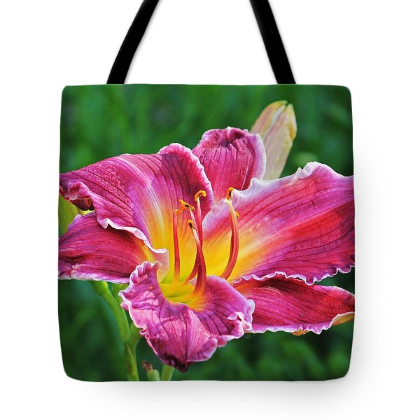 Crimson Day Lily Tote Bag