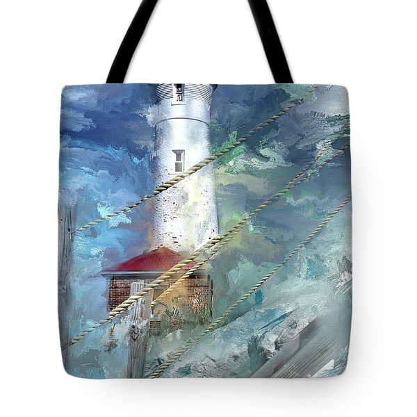 Crisp Point Lighthouse Michigan Tote Bag