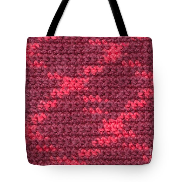 Crochet With Variegated Yarn Tote Bag by Kerstin Ivarsson
