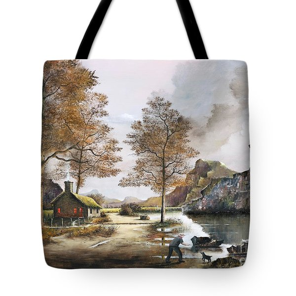 Crofters Cottages Tote Bag