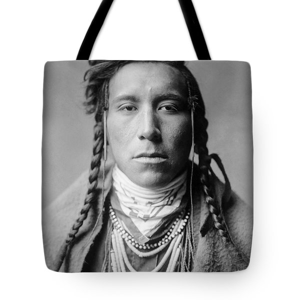 Crow Indian Man Circa 1908 Tote Bag by Aged Pixel