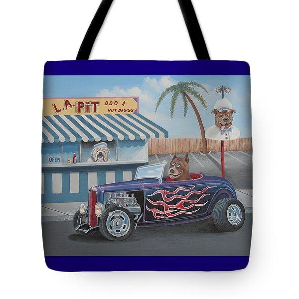Cruizin' At Da L.a. Pit Tote Bag