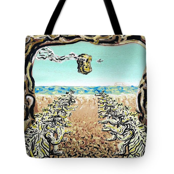 Tote Bag featuring the painting Cult Erie by Ryan Demaree