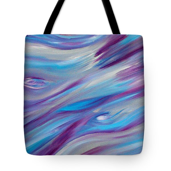 Tote Bag featuring the painting Cy Lantyca 2 by Cyryn Fyrcyd