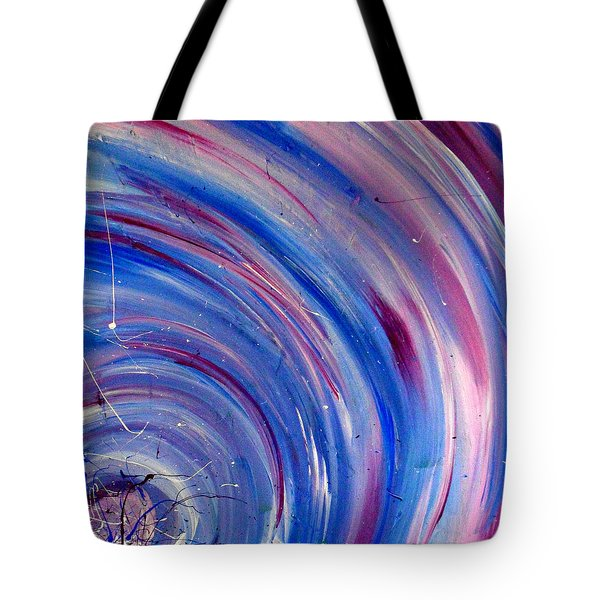 Tote Bag featuring the painting Cy Lantyca 3 by Cyryn Fyrcyd