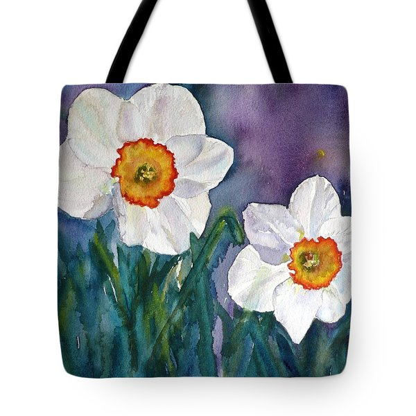 Tote Bag featuring the painting Daffodil Dream by Anna Ruzsan