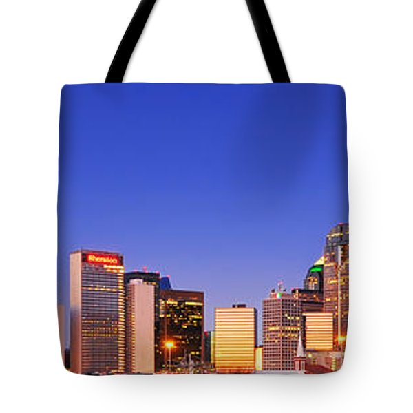 Tote Bag featuring the photograph Dallas At Dawn by David Perry Lawrence
