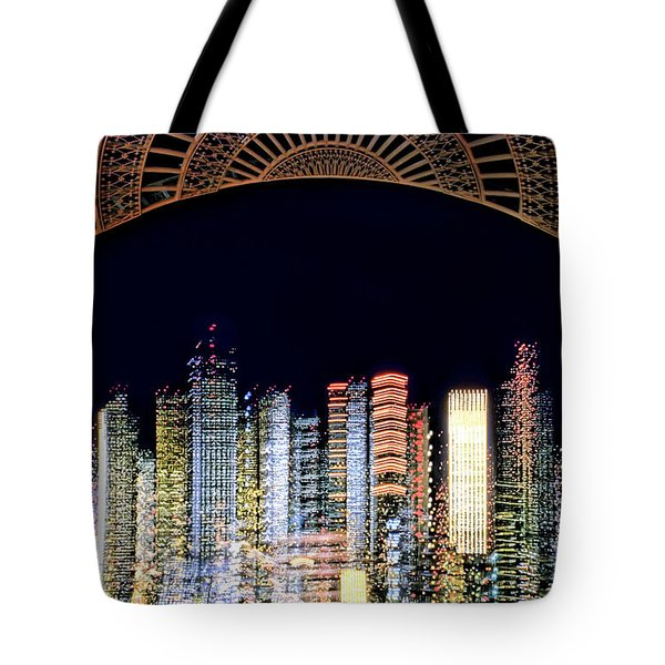 Tote Bag featuring the photograph Dallas At Night by David Perry Lawrence