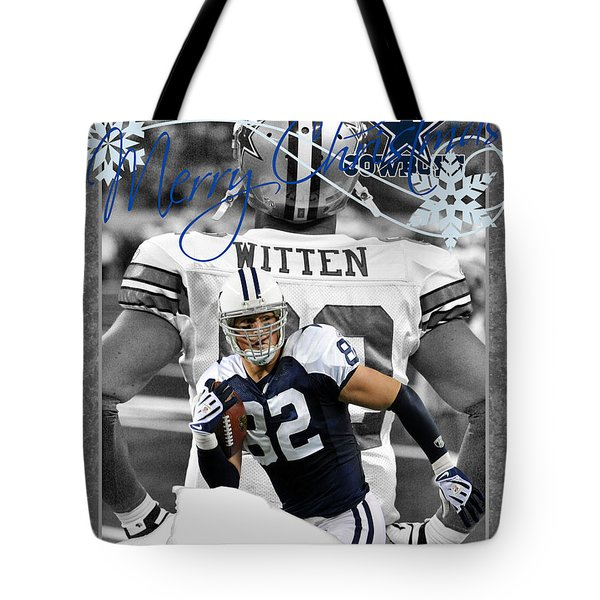 Dallas Cowboys Christmas Card Tote Bag