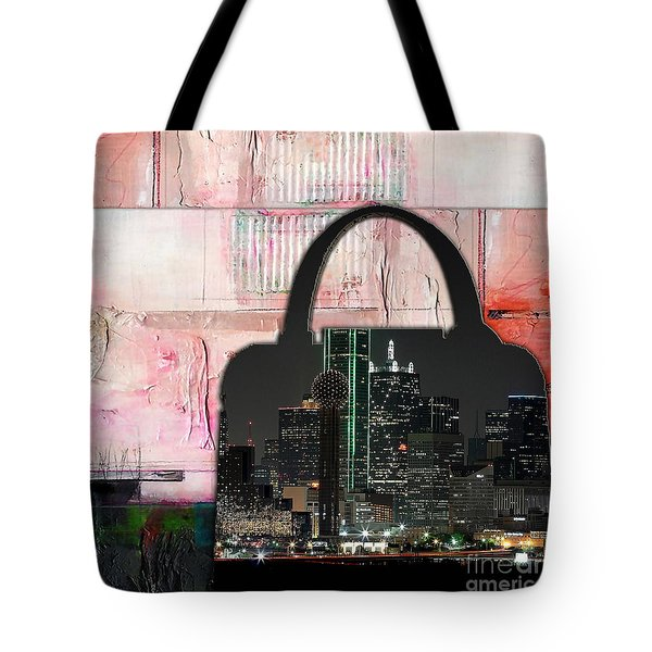 Dallas Texas Skyline In A Purse Tote Bag