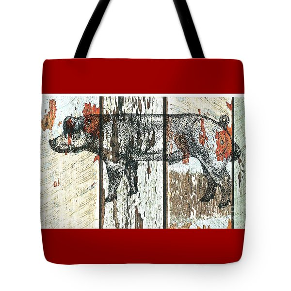 Tote Bag featuring the drawing Danish Duroc Boar by Larry Campbell