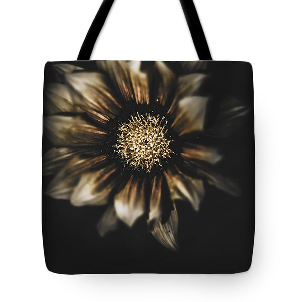 Dark Grave Flower By Tomb In Darkness Tote Bag