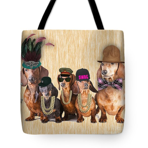 Dachshund Family Tote Bag by Marvin Blaine