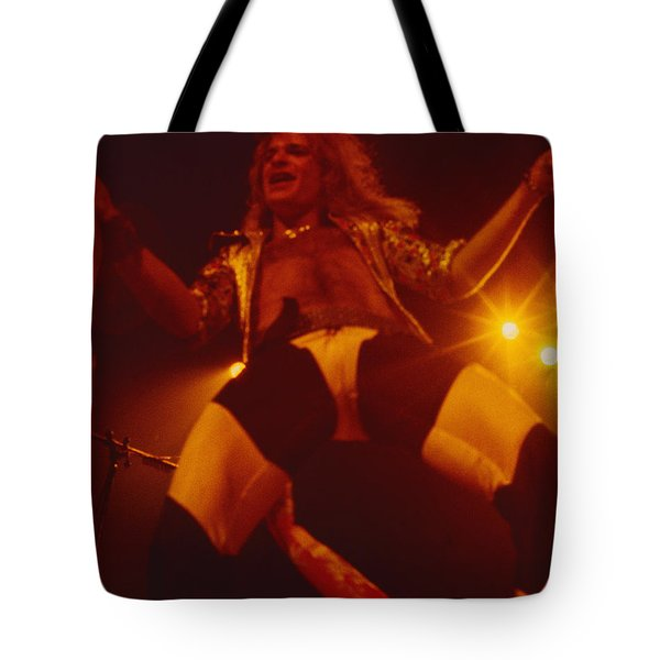 David Lee Roth - Van Halen At The Oakland Coliseum 12-2-1978 Rare Unreleased Tote Bag