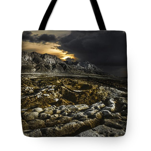 Dead Sea Sink Holes Tote Bag by Dan Yeger