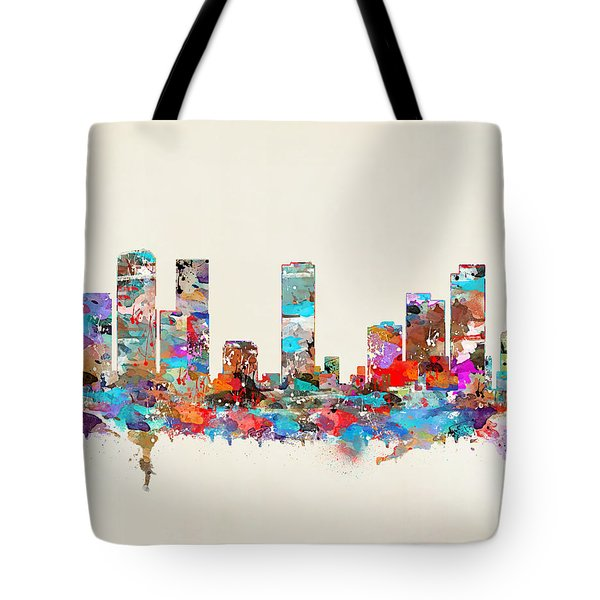 Denver Colorado Skyline Tote Bag