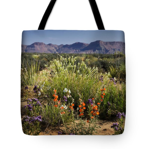 Desert Wildflowers Tote Bag