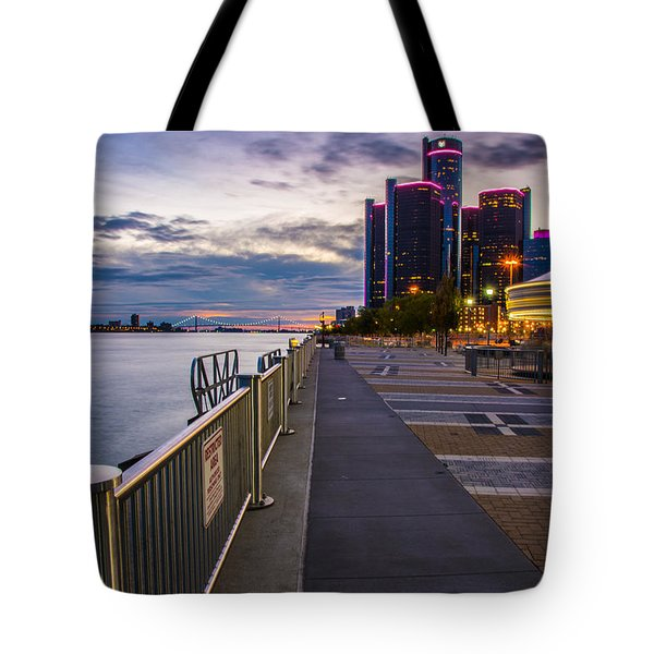 Detroit River Walk Tote Bag