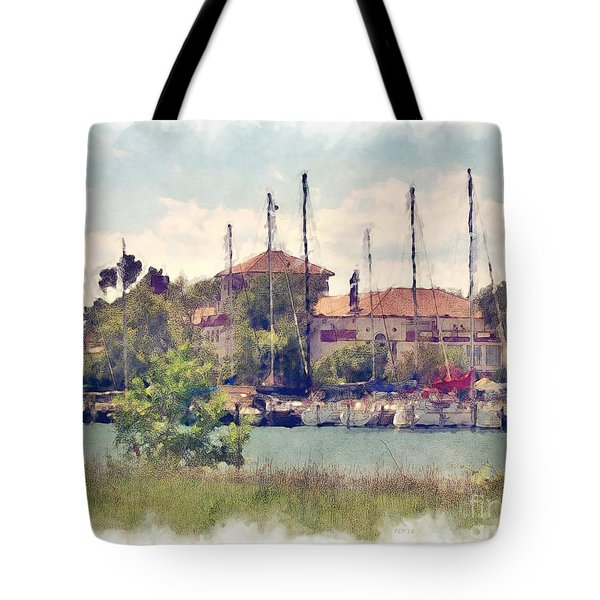 Detroit Yacht Club Tote Bag by Phil Perkins