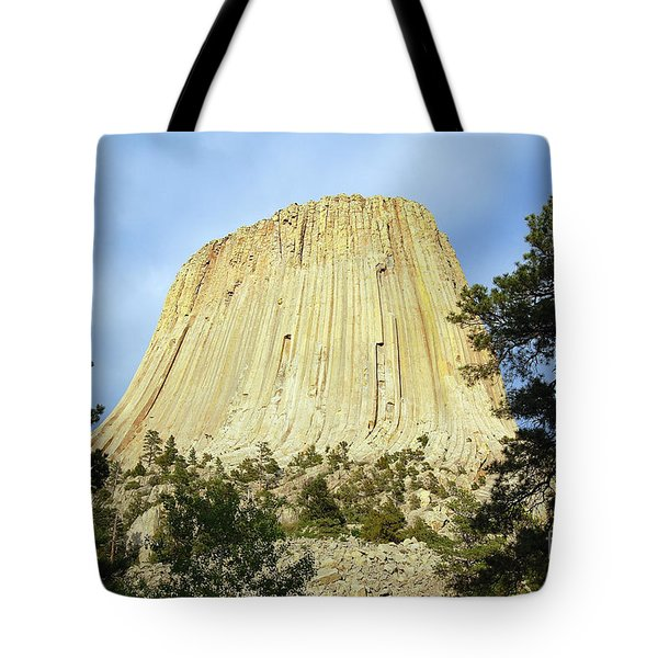 Tote Bag featuring the photograph Devils Tower National Monument Wyoming Usa by Shawn O'Brien