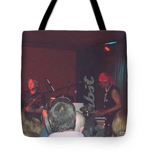 Tote Bag featuring the photograph Devon Allman And Cyril Neville by Kelly Awad
