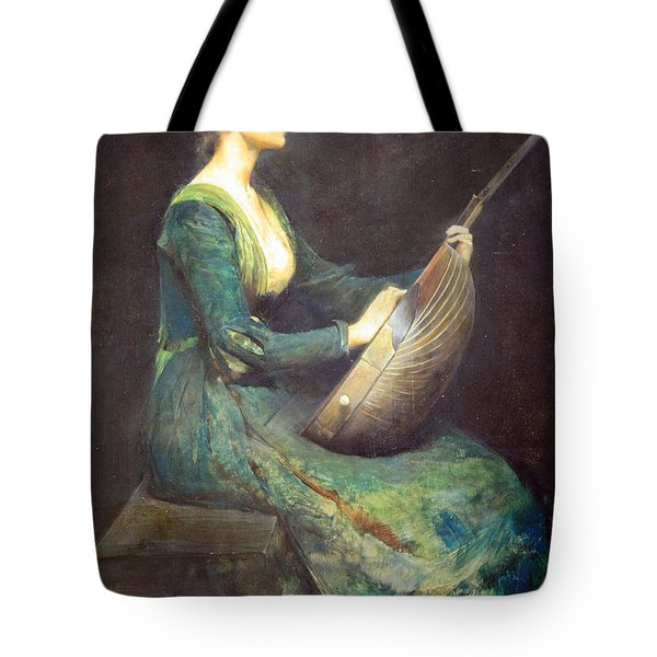 Dewing's Lady With A Lute Tote Bag by Cora Wandel