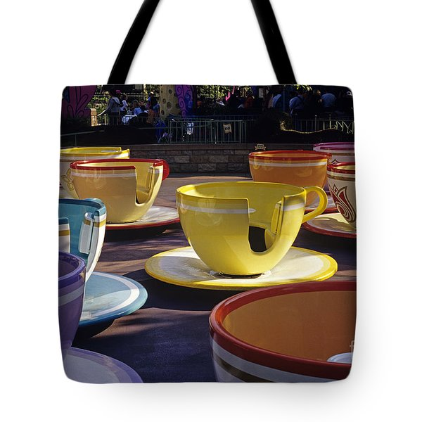 Disneyland Rides Mad Tea Party Ride Anaheim California Usa Tote Bag