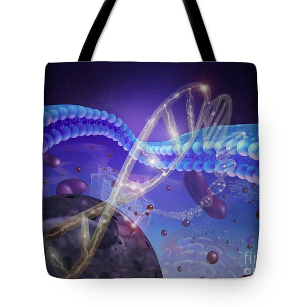 Dna And Chromosomes Tote Bag