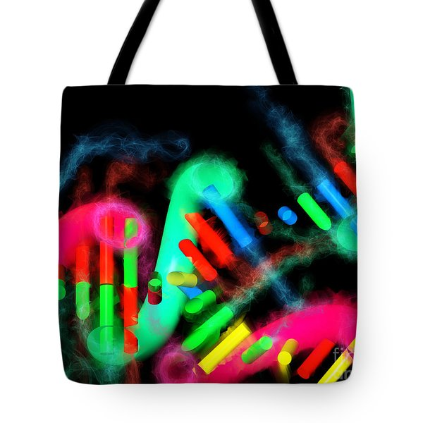 Tote Bag featuring the digital art Dna Dreaming 7 by Russell Kightley