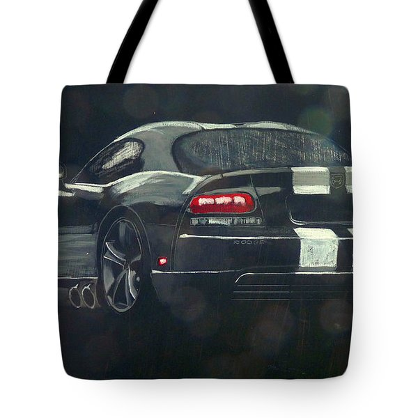 Tote Bag featuring the painting Dodge Viper 2 by Richard Le Page
