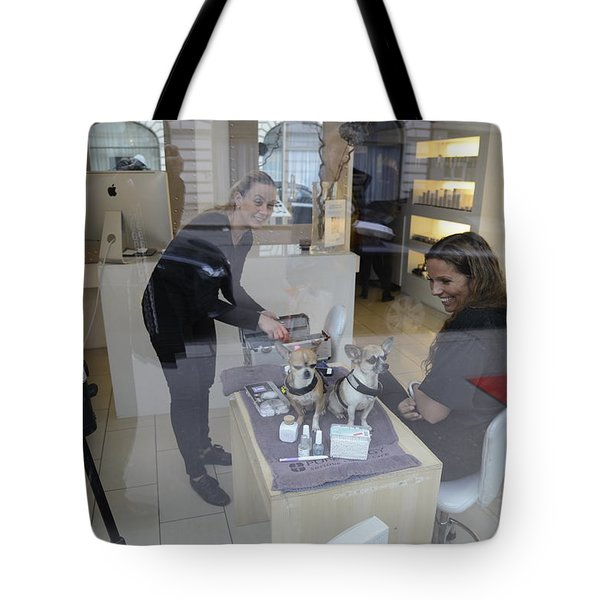 Dog And True Friendship 8 Tote Bag by Teo SITCHET-KANDA